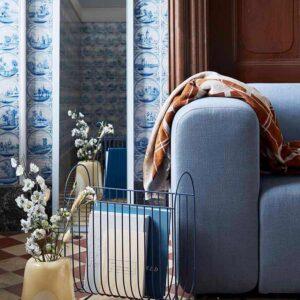 Broste Copenhagen Maggie magasinholder i blå jern