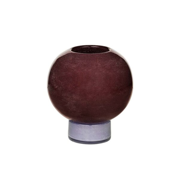 Broste Copenhagen Mari vase i lilla glas