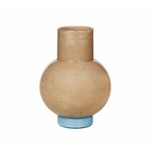 Broste Copenhagen Mari vase i taupe og blå