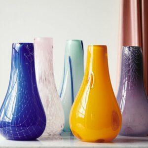 Kodanska Flow vase blå med striber stor model