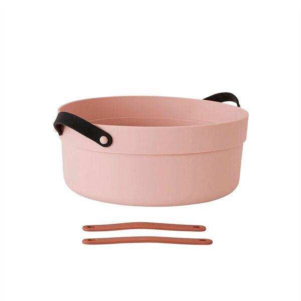 OYOY Mio opvaskebalje i rosa silikone