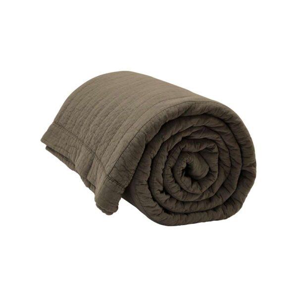 by Nord Magnhild vatteret sengetæppe i brun