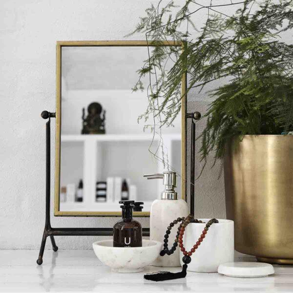 Nordal bordspejl med antik guld finish