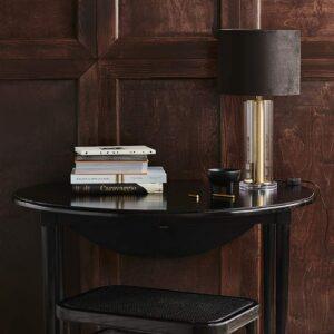 Nordal velour lampeskærm i brun